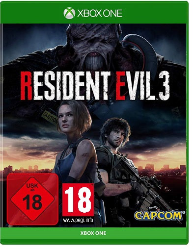 Resident Evil 3 Remake uncut Lenticular 3D Cover Xbox One Disc