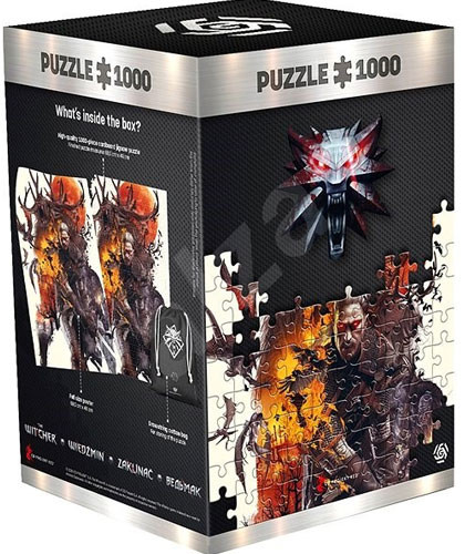 Puzzle 1000 Teile The Witcher Yennefer inkl. Turnbeutel und Poster